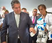 Sigmar Gabriel Bundeswirtschaftsminister Roboter Industrie 4.0