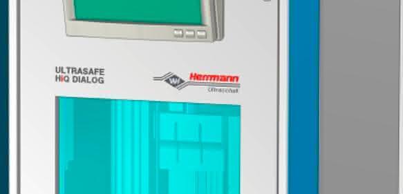 Schallschutzkabine soll zuverlässig vor schädlichen Frequenzen schützen. (Bild: Herrmann Ultraschalltechnik)