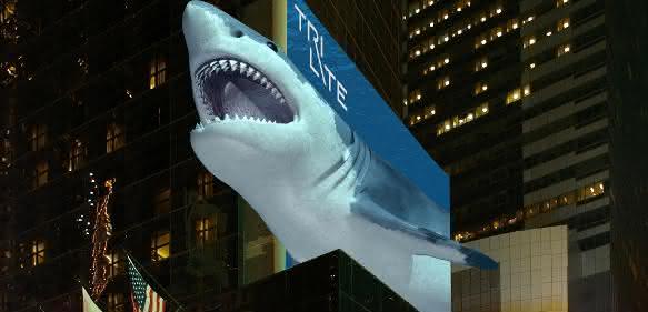 Ungefähr so könnten Werbetafeln in Zukunft auf uns wirken. (Copyright: TriLite)