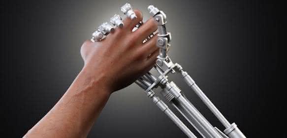 Mensch- Roboter-Kollaboration.