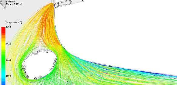 Visualisierung von Partikelspuren