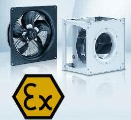 Sparsame EC-Ventilatoren für expolsive Bereiche