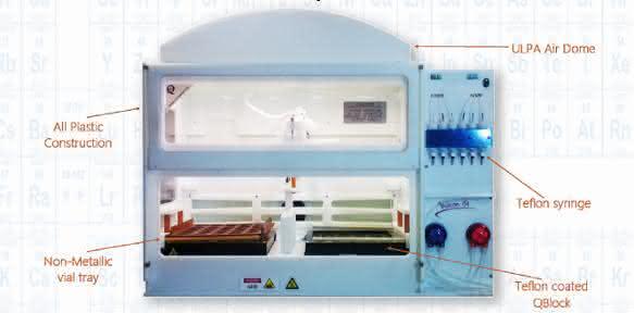Vulcan-System für den automatisierten Probenaufschluss. Auch eine Variante für ICP-MS-Proben ist erhältlich.