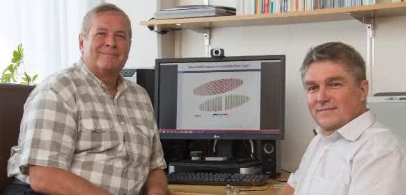 "Die ""Spin-Doktoren"": Prof. Siegfried Selberherr (links) und Dr. Viktor Sverdlov. (Copyright: TU Wien)"
