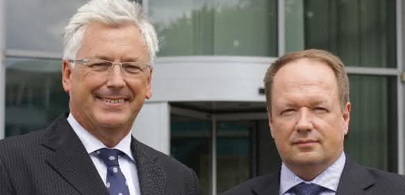 Alex Bongaerts (links) und Jochem Kersjes Atlas Copco Holding