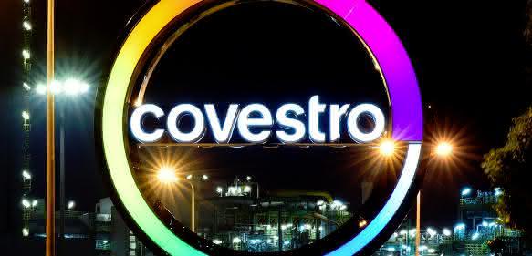 Covestro Logo: aus der Bayer Materialscience das Unternehmen Covestro
