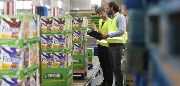 CHEP Viertelpalette Nestlé Fitness