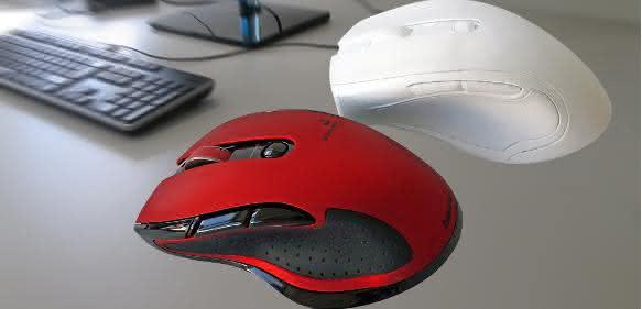 Prototyp HAMA PC-Maus aus weißem PLA