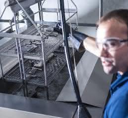 Ultraschall-Reinigung von Spritzgießteilen
