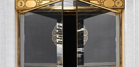 Tor für die Erweiterungsbauten der heiligen Moschee in Mekka