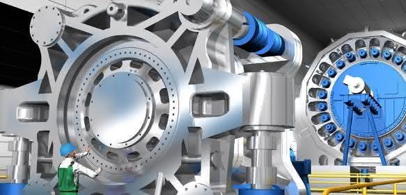 SKF Prüfstand für Hauptlager von Windturbinen