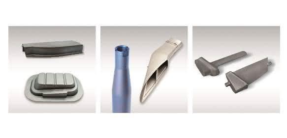 Türrahmen-Ausschnitt, Gehäuse, Stützstange, Kühlerauslasskanal, Turbinenschaufeln aus Titan
