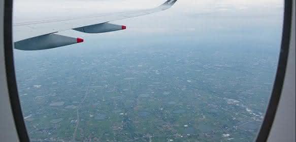 Fensterrahmen des Airbus