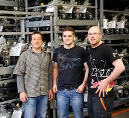 Dipl.-Ing. Roman Klingesberger, Produktionstechniker Martin Brandhuber und Programmierer Harald Stempfer (von links)