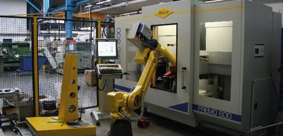 Robotergestütztes Metalldrücken bei Jeßegus