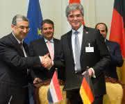 Vertragsunterzeichnung Siemens-Ägypten in Berlin