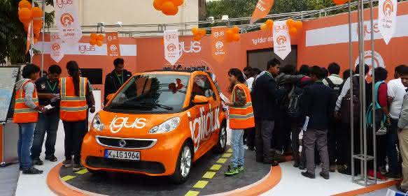 Igus-Cabrio auf der AutoExpo in Neu Delhi