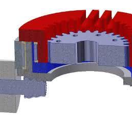 Exzentergetriebe mit Oldham-Kupplung