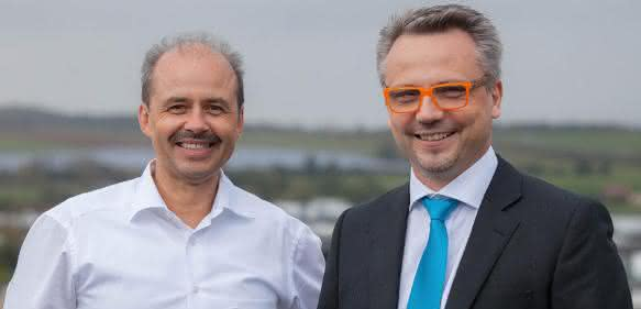 Michael Finkler (links), Vorstand der ALPHA Business Solutions AG und künftiges Mitglied der Konzerngeschäftsleitung der proALPHA Business Solutions GmbH und rechts: Dr. Friedrich Neumeyer, CEO der proALPHA Gruppe