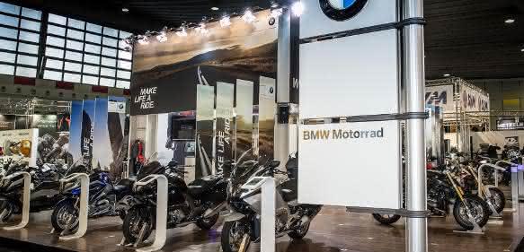 BMW auf Motorradfachmesse