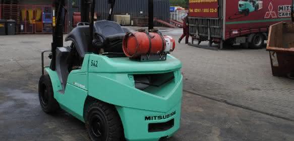 Gberauchter Mitsubishi Gabelstapler bei Wertz