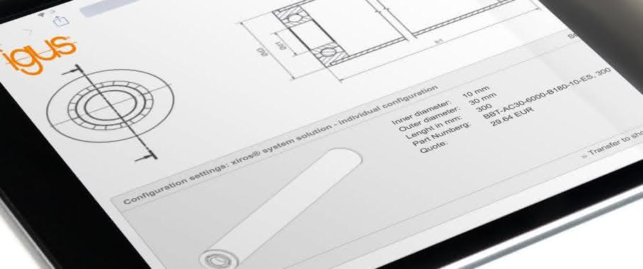 Schmier- und wartungsfreie Aluminiumrollen online konfigurieren