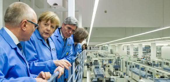 Bundeskanzlerin Angela Merkel bei Siemens in Amberg