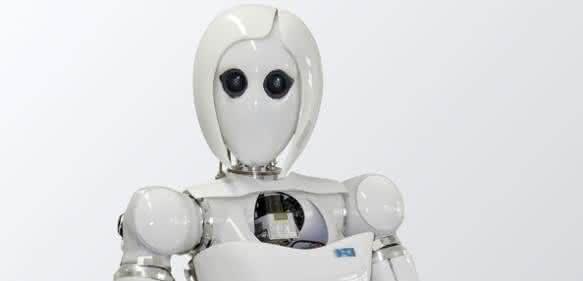 Gelenkbremsen für Roboter sparen Energie: Diese Roboterdame arbeitet haushälterisch