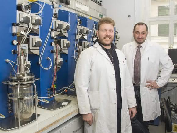 Michael Fink (links) und Marko Mihovilovic an der TU Wien