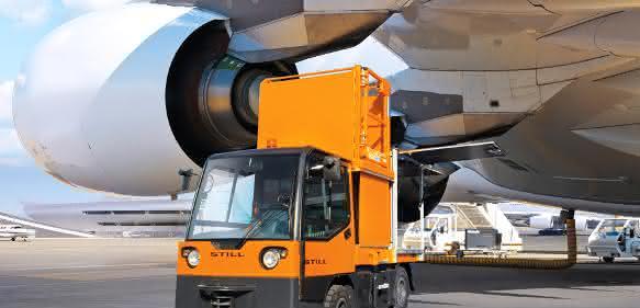 Flugzeugwartung mit dem Elektrotransporter: Schneller fertig, schneller in der Luft
