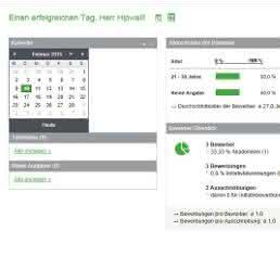 Dashboard von Sage HR Online