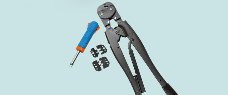 Handwerkzeug aus dem Sortiment von TE Connectivity