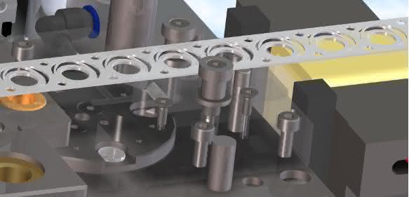 CAD-Detaildarstellung eines Werkzeug-Abschnitts