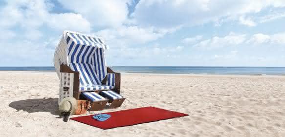 DBL-Fußmatte am Strand