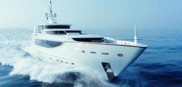 Yacht mit Rolldämpfungssysten von DMS Holland