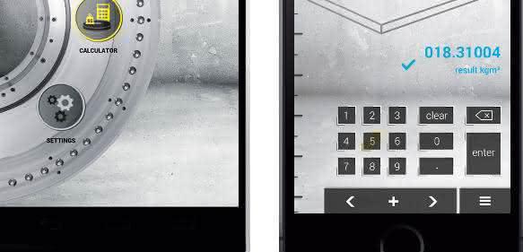 Weiss mit neuer App: Inertialmoment vom Mobile