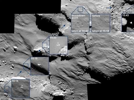 Oberfläche des Kometen 67P/Churyumov-Gerasimenko