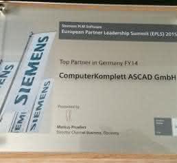 Siemens Urkunde Top Partner