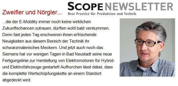 Leserbriefe zum SCOPE-Newsletter am 23. September: Zweifler und Nörgler…