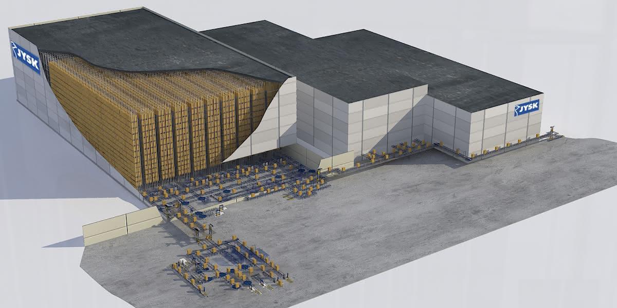 75.000 neue Plätze für das Mobiliar: SSI Schäfer rückt die Möbel bei JYSK