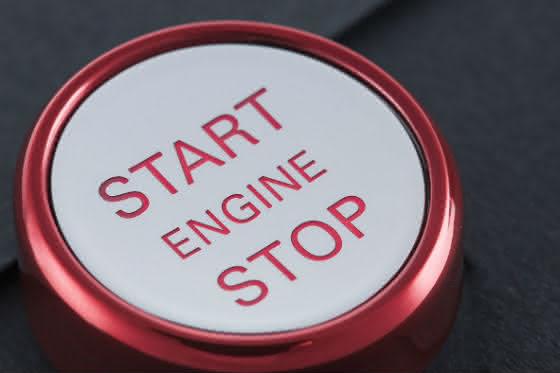 Start-Stop-Taste - Design und Funktion dank PVD- Beschichtungs-Technologie