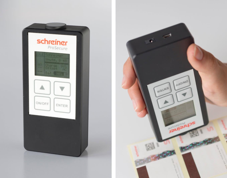 Schreiner verbessert LaserSecure:: Fingerabdruck in Farbe