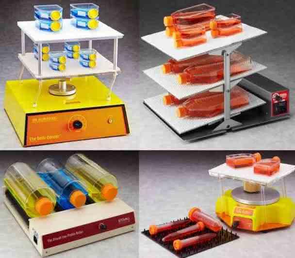 Laborgeräte bei Dunn Labortechnik: Laborschüttler, Wippschüttler, Rollerapparate