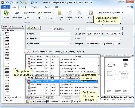 Dokumentenmanagement und -archivierung: E-Mail mit elektronischer Rechnung archivieren