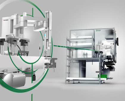 Montagezelle mit Roboter: Roboter im Micro-Handling