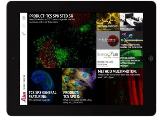 iPad-App über Konfokalmikroskopie: Konfokales Wissen auf einen Blick