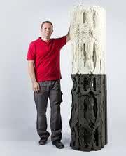 3D-Druck-Verfahren: Eine Säule aus dem Drucker