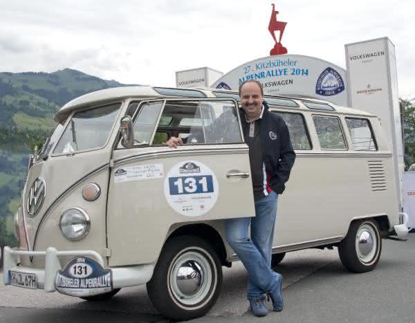 Sternekoch fuhr einen T1 Baujahr 1967: Johann Lafer startete bei Alpenrallye