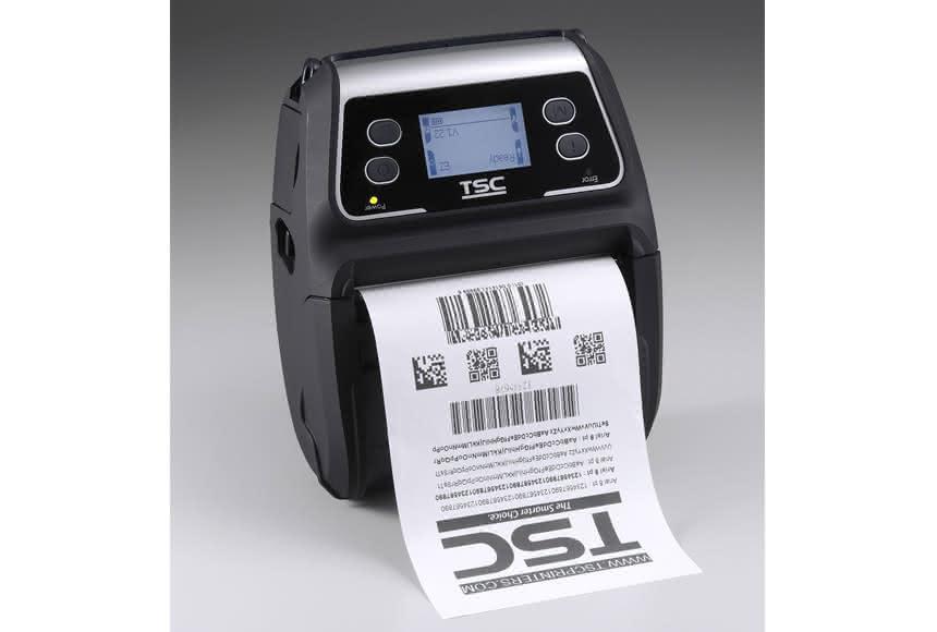 Portabler Etikettendrucker: TSC: Master lässt sich am Gürtel tragen