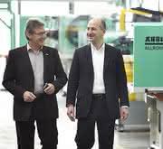 Heinz Gaub (r.) und Herbert Kraibühler